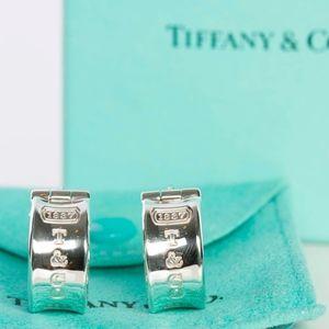 Authentic Tiffany & Co. Silver 1837 Hoop Earrings